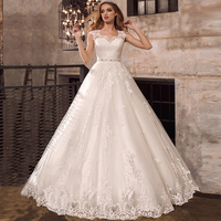 Lace Lace Bride Marry White Wedding Dress Wedding Bridal Gown Dress 2017