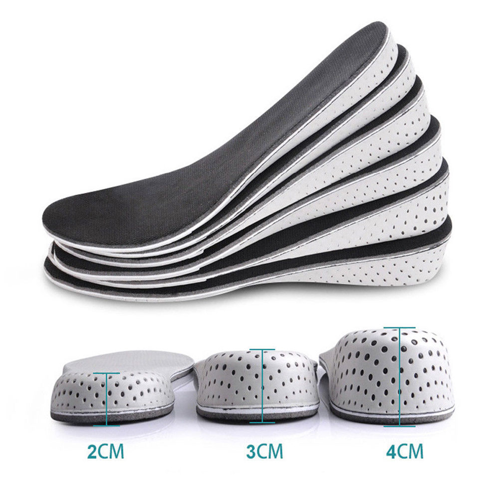 Breathable Cosy Insole Heel Lift Insert Shoe Pad Silicon Gel Insoles Foot Care Pads For Plantar Spur Running Sport