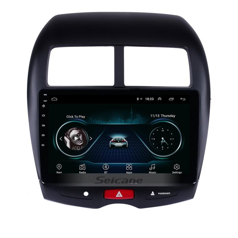 Seicane 10.1 Android 8.1 HD 1024*600 De Voiture GPS multimédia Radio Navi lecteur Pour 2010 2011 2012- 2015 Mitsubishi ASX Peugeot 4008