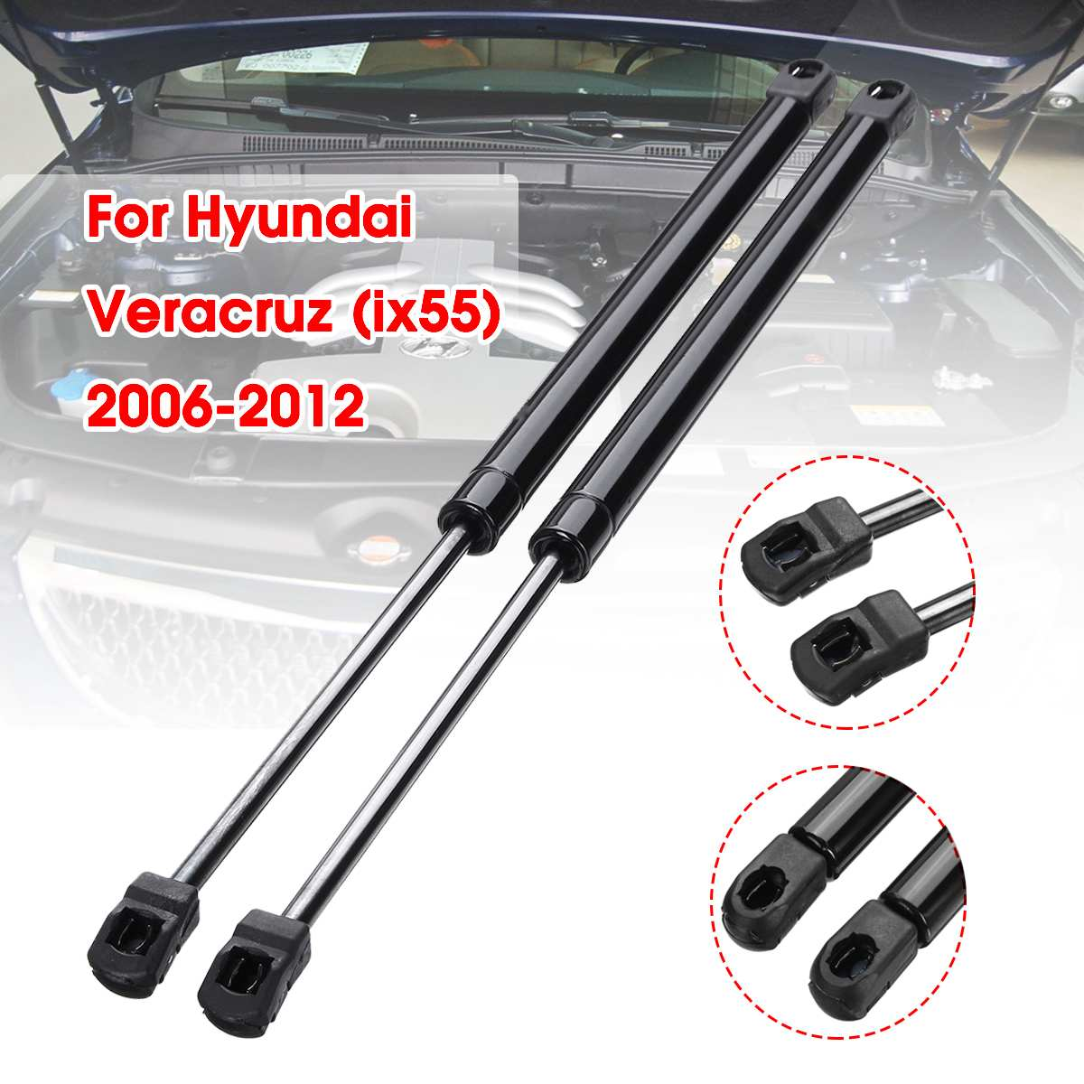 Car Front Bonnet Hood Modify Gas Struts Lift Support Shock Damper Bars For Hyundai Veracruz ix55 2006 - 2012
