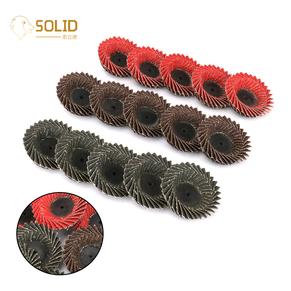 15Pcs 2 Inch Type R Roloc Grinding Flap Disc Threaded Twist Lock 60# Abrasive Flap Disc Wheel For Grinding Metal Derusting Paint