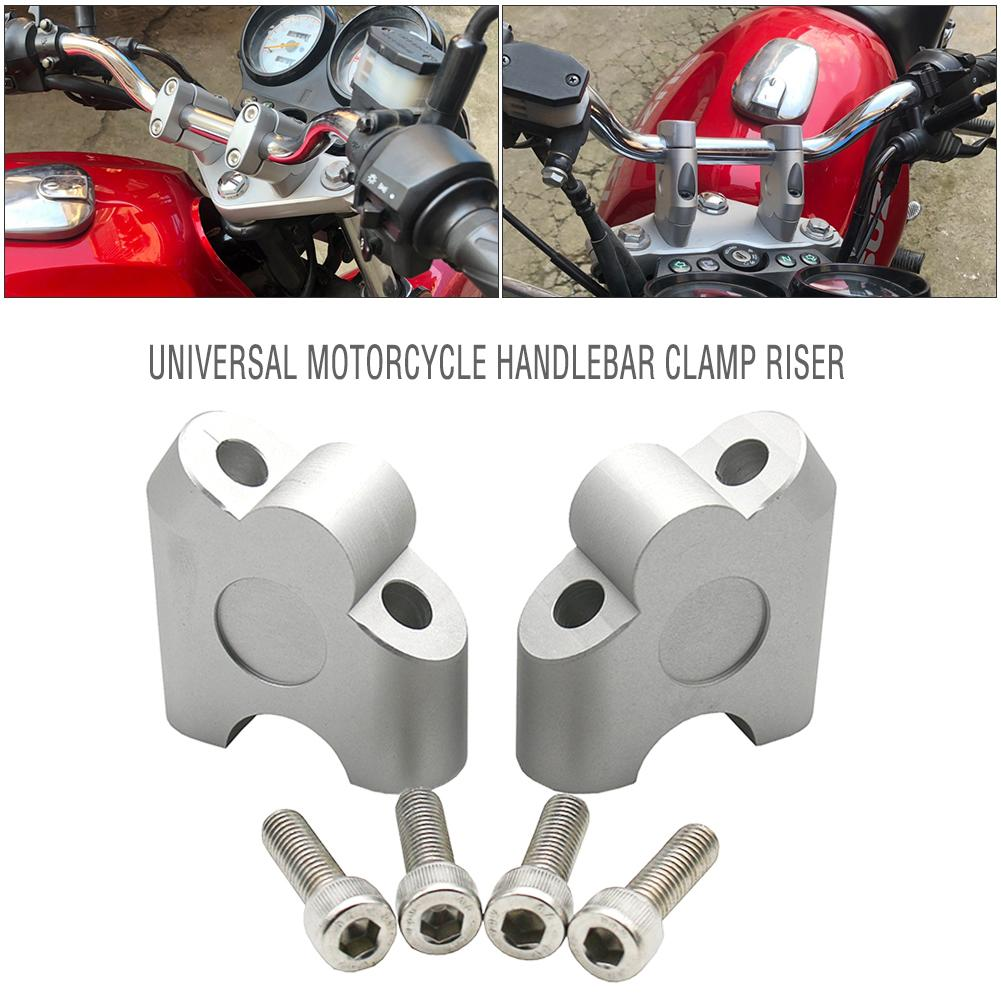 Universal Motorcycle Handlebar Clamp Riser Back Move Mount 22mm Motorbike Accessories