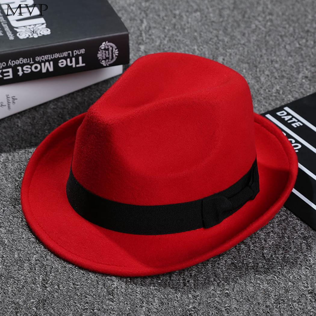 cd829090b2e ... Beige Brim Hat Jazz Wine Wide Unisex Casual Blue Red Spring Black  Winter Red Felt Solid Hat Autumn Hat