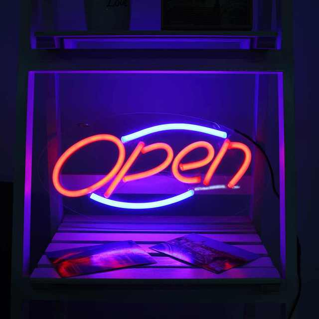 Open Neon Sign Light Bar Pub Club Studio Wall Display Led Tube Night Lamp Visual Artwork Lighting Neon Tubes Board Decoration