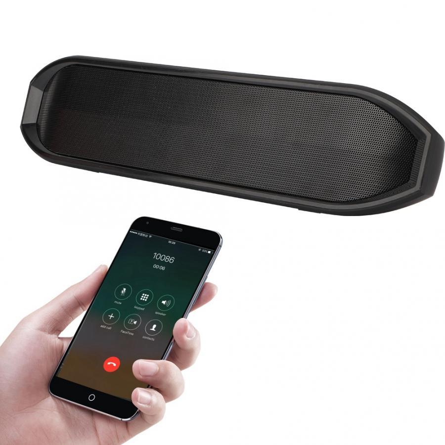 10 W Dual Lautsprecher Tragbare Drahtlose Bluetooth Super Bass Lautsprecher Tv Soundbar Lautsprecher Led Uhr Display Unterstützung Fm Radio Tf Aux, Elegant Im Geruch