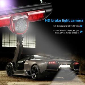 Image 3 - Car 3rd Brake Light Rear View Camera IP68 Waterproof LED Night Vision Camera For Citroen Jumper Fiat Ducato Peugeot Boxer