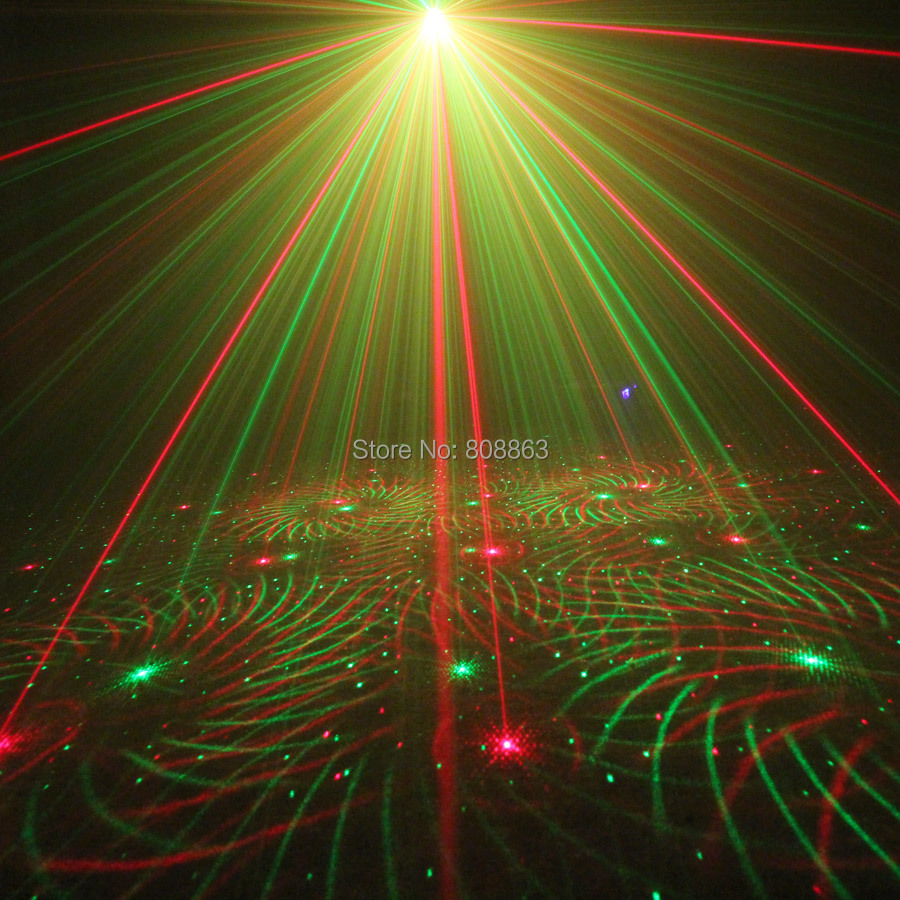 ESHINY Mini 4in1 Pattern Effect R&G Audio Star Whirlwind Laser Projector Stage Disco DJ Club Bar KTV Family Party Light Show P14 4