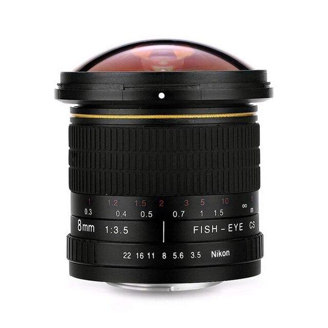 Hàng đầu Giao Dịch Lightdow 8 mét f/3.5 Ống Kính Aspherical MC Ống Kính Fisheye cho Nikon D500 D3200 D3300 cho Canon EOS 1200D 760D 750D