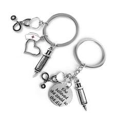 купить Doctor Medical Tool Key Chains Funny Stethoscope Syringe Pendants Key Chains Nurse Students Gift Cute Fashion Key Chains Hotsale недорого