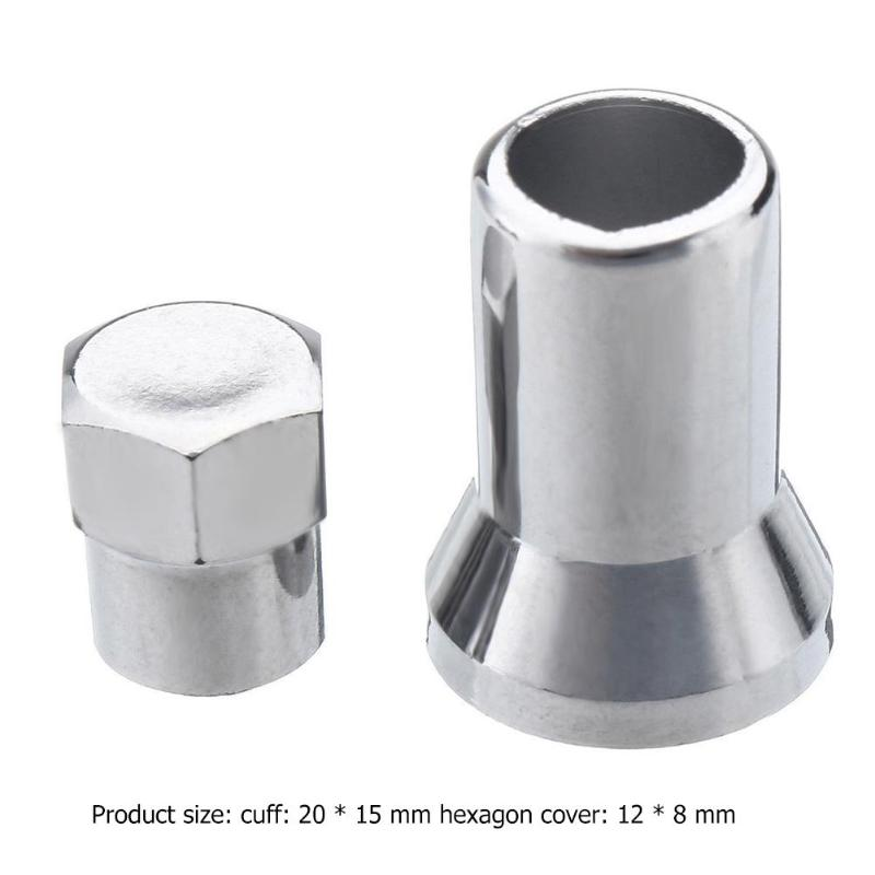 4Pcs TR413 Chrome Car Truck Tire Wheel Tyre Valve Stem Hex Caps With Sleeve Covers Car Tire Wheel Accessories Tyre Valve Stem