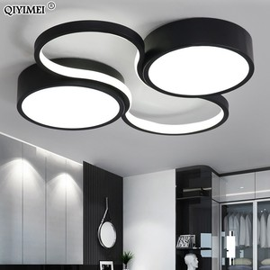 Image 2 - LED Chandeliers Light Modern Lamp Living Room Lighting art design Bedroom Kitchen Surface Mount Flush Panel Remote Control dero
