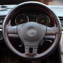Крышка рулевого колеса автомобиля Оплетка на руль DIY натуральная кожа с иглой и ниткой автомобиль-Стайлинг Аксессуары для интерьера