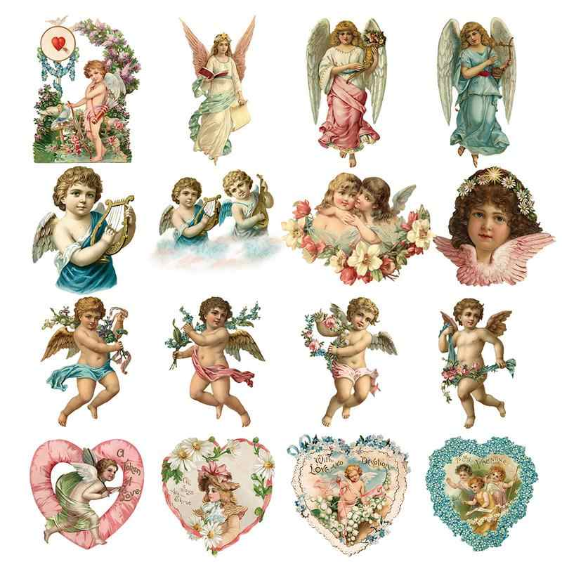 Angel Series Pattern Pyrograph Heat Transfer Printing Children's Clothes Stickers Iron On Patches For Clothing DIY