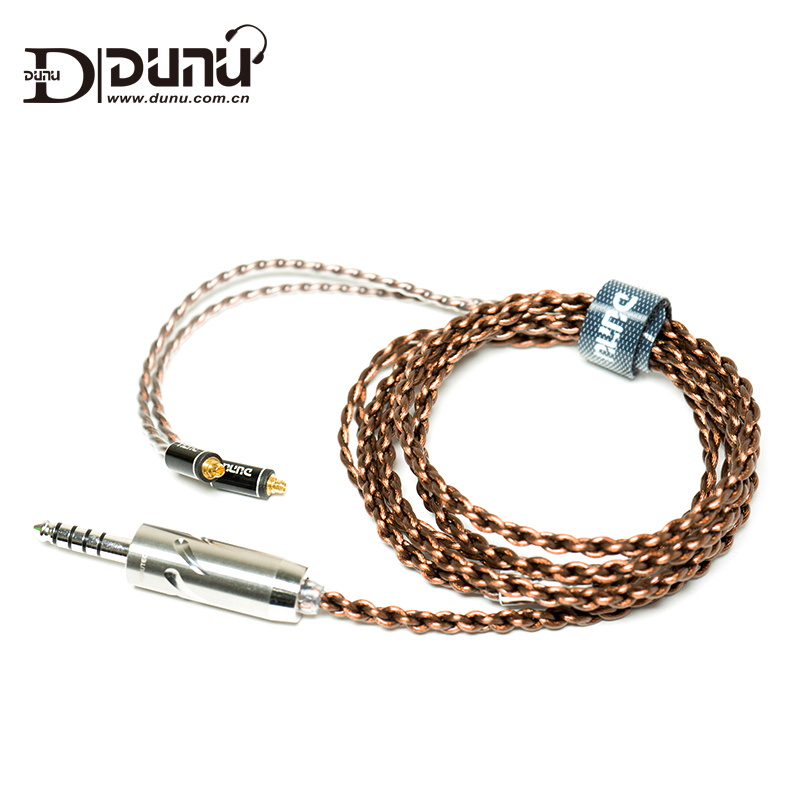 Dunu Standard 2.5mm 3.5mm 4.4mm MMCX Japanese Furutec Balanced Earphone Upgrade Cable for Shure/UE/SONY/JVC/DK3001/Falcon-C