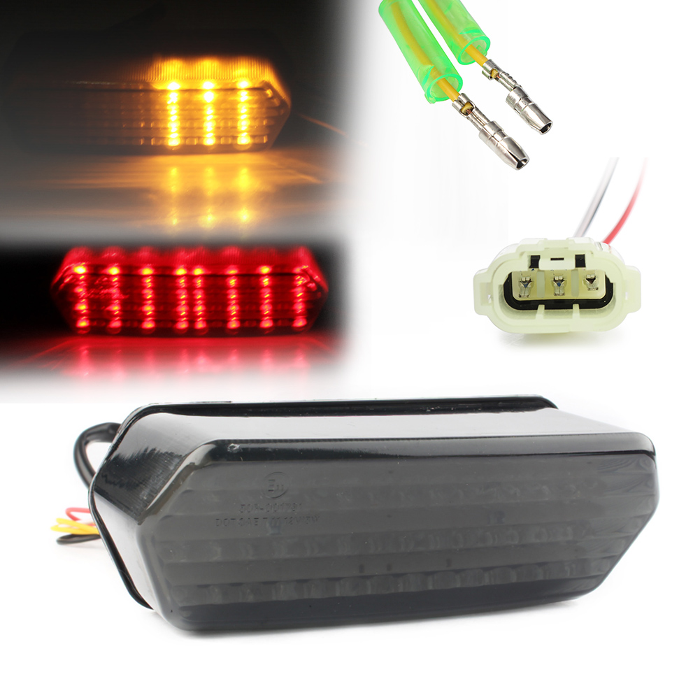 E-Mark Integrated LED Rear Tail Light Turn Signal For Honda Grom125 / MSX 125 2014 2015 Smoke, Spare Part Accessory