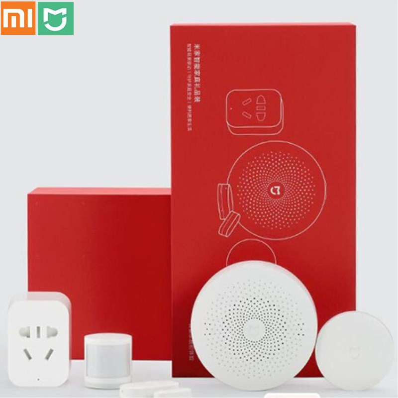 Xiaomi Mijia passerelle multifonctionnelle capteur de corps de fenêtre commutateur sans fil WiFi prise intelligente ensemble ZigBee Version Kit de sécurité à domicile