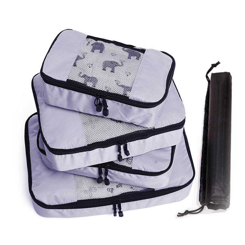 Packing Cube Luggage Organizer Waterproof Material Double Zip Nylon Children 39 s Men 39 s Female Travel Bag Organizer Hand Luggage in Travel Bags from Luggage amp Bags