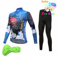 เด็ก Ropa Ciclismo หญิงฤดูใบไม้ผลิและฤดูใบไม้ร่วงยาวเสื้อขี่จักรยานชุดเด็กเสื้อผ้าจักรยานเสื้อผ้าจักรยาน