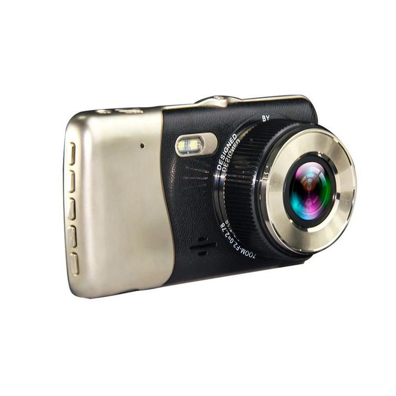 Image 5 - Мини DVR 4 дюйма Двойной объектив тире Камера HD 1080P автомобиль DVR видеорегистратор Регистраторы G Сенсор Ночное видение зеркало заднего вида DVR-in Видеорегистратор from Автомобили и мотоциклы