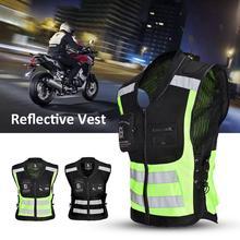 1 шт. Автомобильная Светоотражающая одежда для безопасности жилет защитное устройство средства безопасности дорожного движения мотоцикл Светоотражающая куртка L/XL