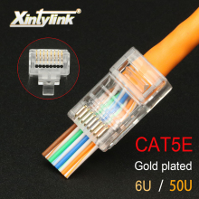 xintylink EZ rj45 connector cat5 cat5e network 8P8C unshielded male utp 8pin ethernet cable plug modular keystone 100pcs 50pcs