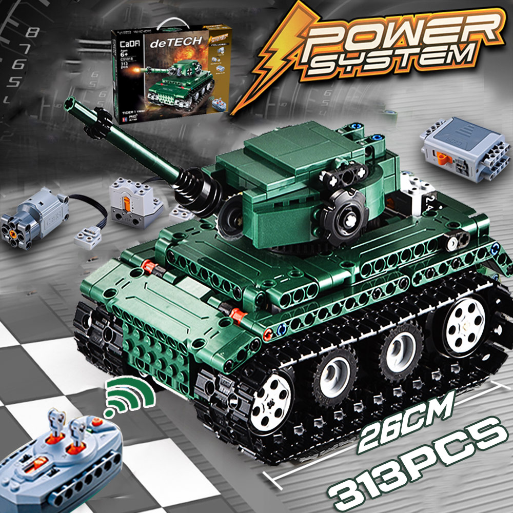 ww2 RC Tiger tanks Building blocks Technic World War 2 Military German Army Model bricks set
