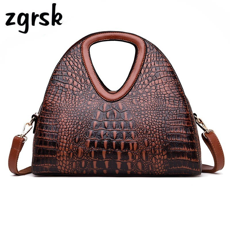 Alligator Women Handbag Famous Brand Luxury Handbags Leather Women Shoulder Bag Designer Ladies Hand Bags Sac A Main Femme handbag