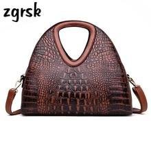 купить Alligator Women Handbag Famous Brand Luxury Handbags Leather Women Shoulder Bag Designer Ladies Hand Bags Sac A Main Femme дешево