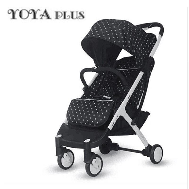 YOYAPLUS del bambino luce passeggino pieghevole ombrello auto può sedersi può mentire ultra-luce portatile in aereo