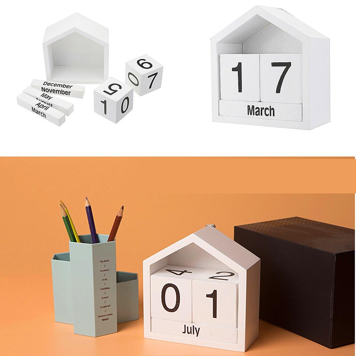 Office & School Supplies Kicute 2018 Jahr Schwarz Weiß Stil Luminous Kalender Schreibtisch Stehenden Papier Multifunktions Organizer Schedule Planer Memo Kalender Kalender, Planer Und Karten