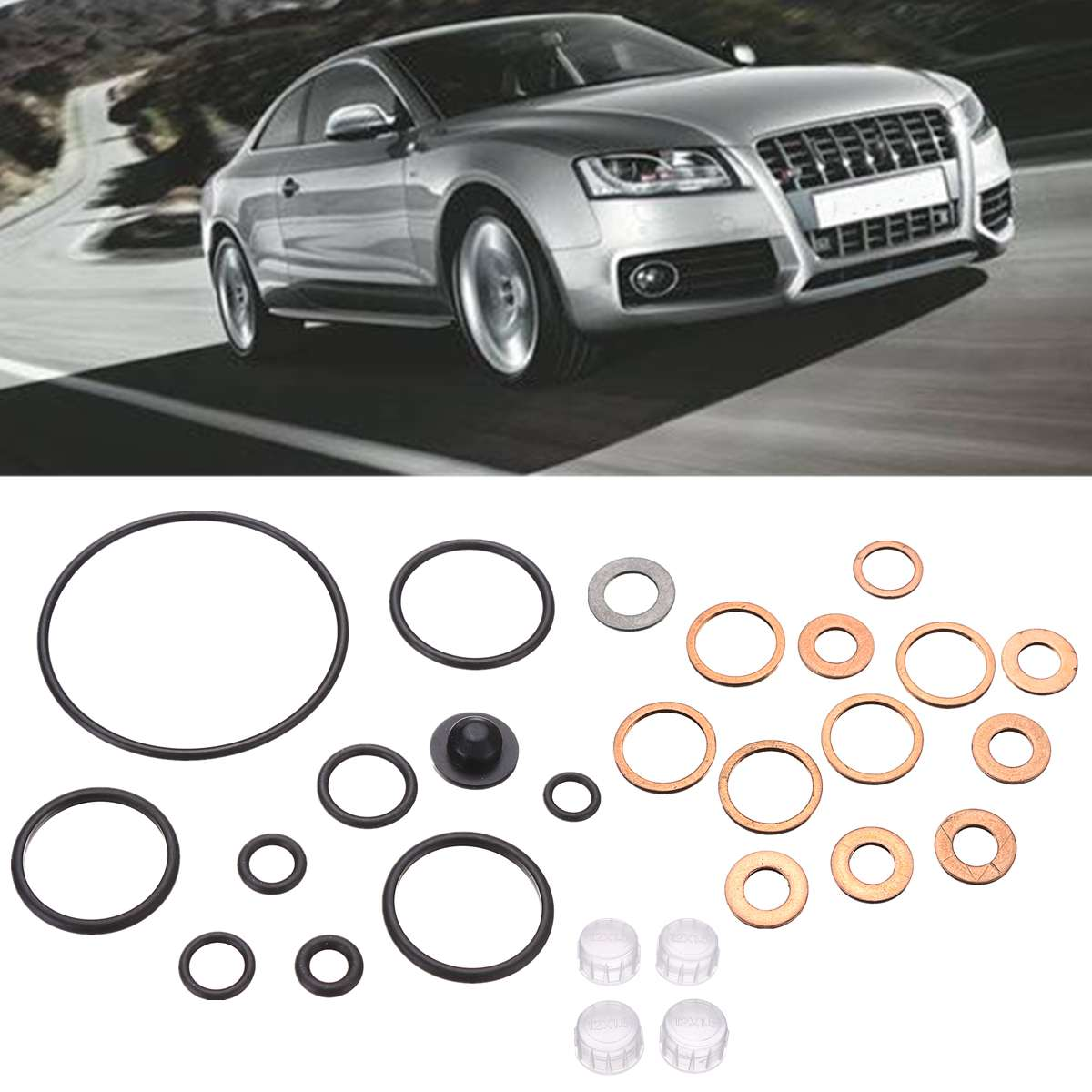 Plastic Black Oil Injector Seal Component Repair Kit for VP37 2467010003 for Audi 1.9 TDI / 2.5TDI for BMW tds for MercedesPlastic Black Oil Injector Seal Component Repair Kit for VP37 2467010003 for Audi 1.9 TDI / 2.5TDI for BMW tds for Mercedes