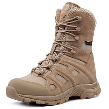 Hot Men Tactical Special High Tube 07 Desert Boots Male Outdoor Trekking Hiking Hunting Waterproof Anti-wear Damping Shoes outdoor camping mountain high tube anti skid wear resistant shoe sneaker men tactical military ankle shock absorber desert boots