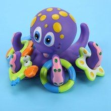 Baby Bath Toy Shrimp Fish Crab Circle Octopus Circle Toys Children Bathroom Showers Water Toys Bath Birthday Beach Toys(China)