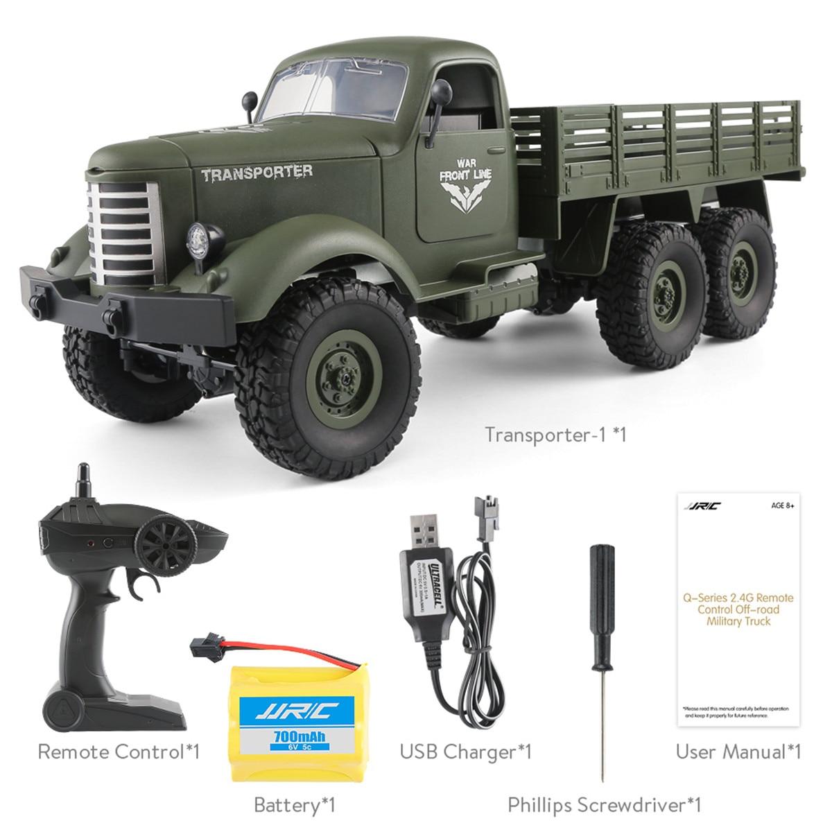 RC 1:16 2.4G télécommande 6WD suivi tout-terrain militaire contrôle camion tracteur enfants camion