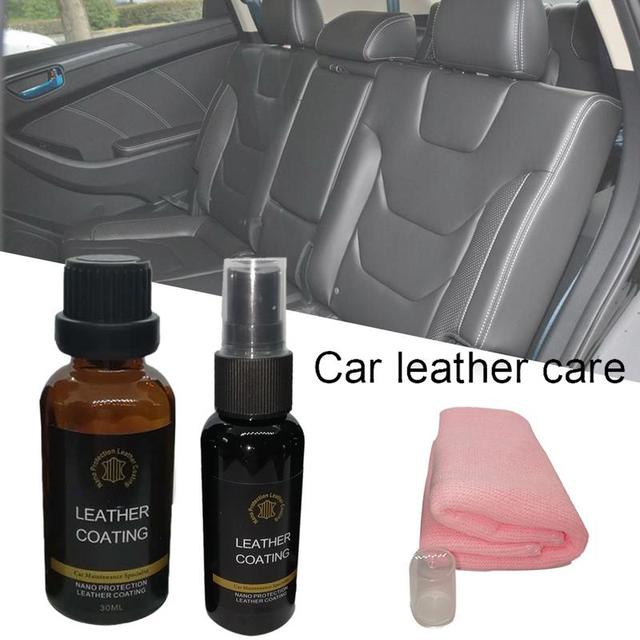 Car Interior Leather Nano Coating Agent Brightening Scratch Resistant Super Water Skid Renovation Leather Care
