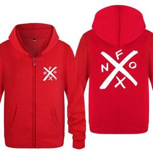 Image 2 - NOFX Music Novelty Sweatshirts Men 2018 Mens Zipper Hooded Fleece Hoodies Cardigans