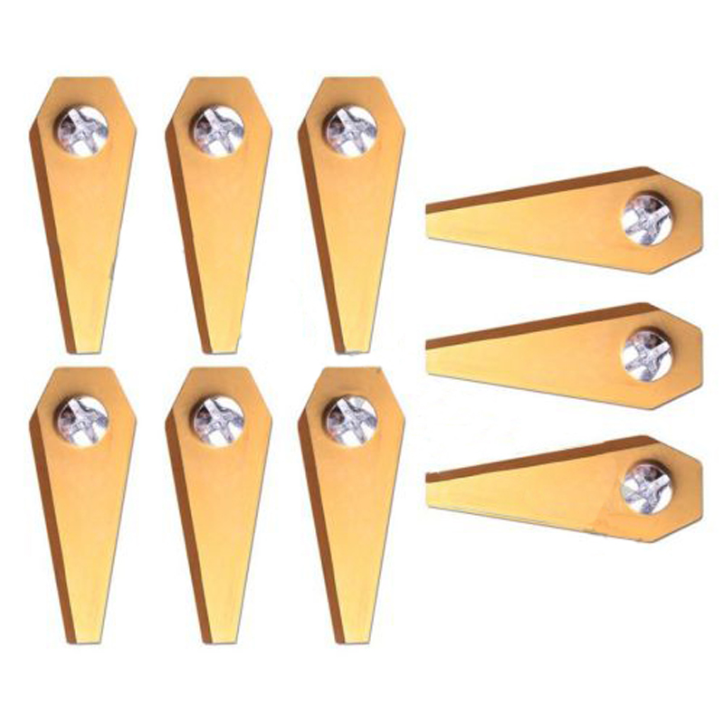 9Pcs Titanium Golden Replacement Robotic Mower Blade For Bosch Indego Lawnmower
