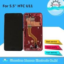 """M و سين الإطار ل 5.5 """"HTC U11 LCD شاشة عرض + محول رقمي يعمل باللمس شاشة ل HTC U11 U 3w U 1w U 3u عرض"""