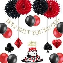 Casino Thema Adlult Geburtstag Party Dekoration Set Für Las Vegas Glücklich Geburtstag Mit Kuchen Topper Glitter Luftballons Geburtstag Banner
