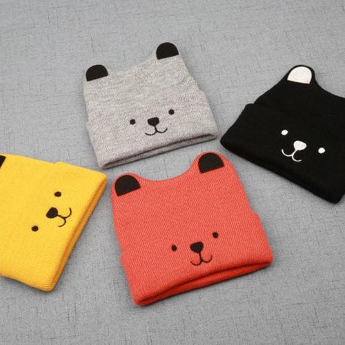 Pudcoco Cartoon Bear Hat For Kids 3