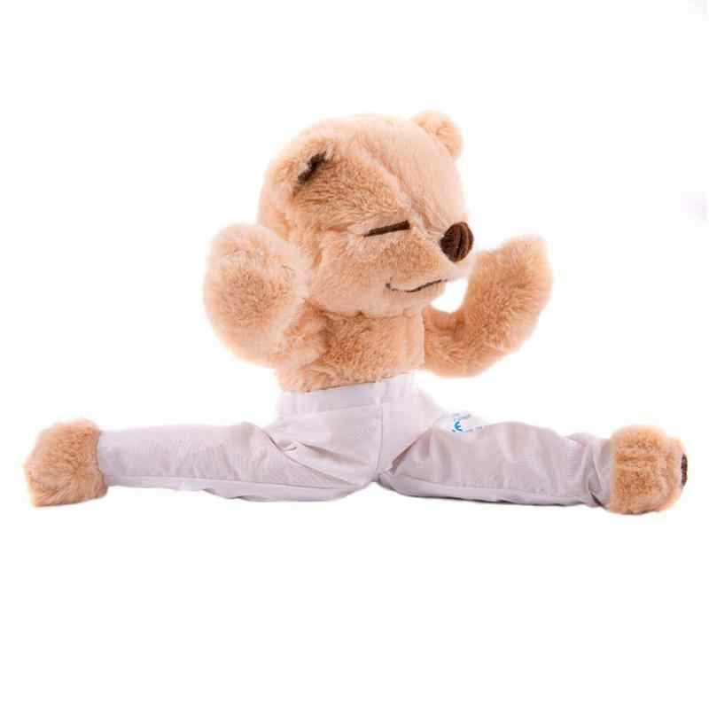 93e90bd66b Plush bear Yoga Master Bear Teaching Yoga Meditation Mindfulness giant teddy  bear Stuffed animal doll for