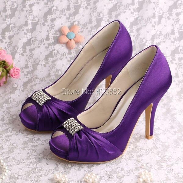Aliexpress.com : Buy Wedopus Dark Blue Ladies High Heel Open Toe ...