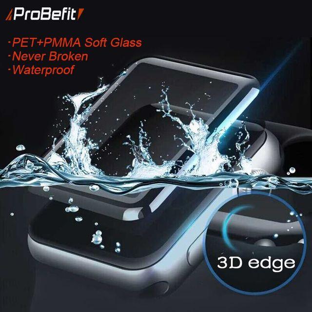 PET + PMMA impermeable protector de pantalla para apple watch serie 4 3 38 MM 40 MM 44 MM 42 MM no película de vidrio suave templado para Iwatch 4