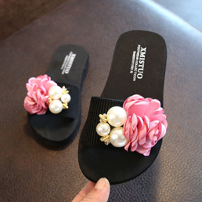 Slippers Female Summer Outer Wear Parent child Mother And Daughter Tourism Children Sandals New Style Sweet Flowers Sandals|Slippers| |  - title=