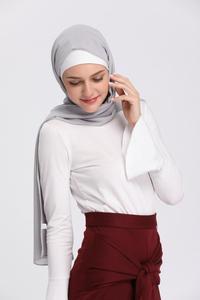 Image 5 - מוסלמי נשים חולצות גופיית העבאיה ארוך שרוול הדוק חולצה חולצה צופר שרוול O צוואר מזדמן בגדים אסלאמיים טורקיה ערבית חדשה
