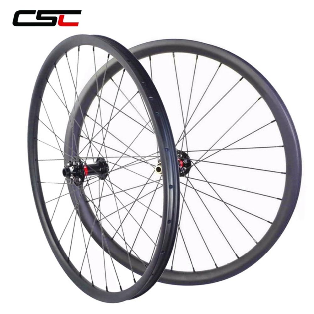 29 MTB Wheels 29er Mountain Bike Wheelset 30mm Width 25mm Tubeless XC Race Hookless 29 Inch