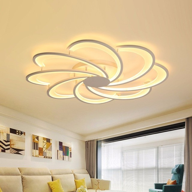 Modern LED White Ceiling Light With Remote Control For Living Room Home Lighting Kitchen Fixtures Bedroom Plafon Lamp Lustre