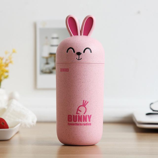 Lovely Rabbit Shaped Leakproof Eco-Friendly Plastic Travel Mug