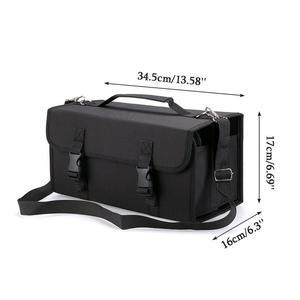 Image 5 - 120 Hole Mark Sketch Storage Pen Bag Painting Bag Marker Case 120 Storage Holders Foldable Extendable Oxford With Shoulder Strap