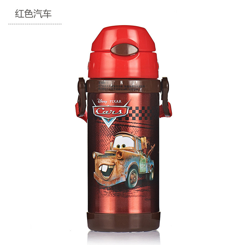 Image 5 - Disney Cute Cartoon 2019 New Fashion Portable Heat Preservation Cup Children Stainless Steel Sucker Water Kettle With Water Cup-in Cups from Mother & Kids